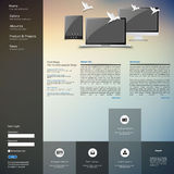 Website template design Royalty Free Stock Photography