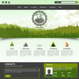 Website template design Royalty Free Stock Photo