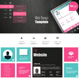 Website template design Royalty Free Stock Images