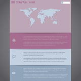 Website template design in pastel colors Royalty Free Stock Images