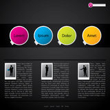 Website template design with pictures Royalty Free Stock Photo