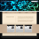 Website template design with plasma header Royalty Free Stock Photo