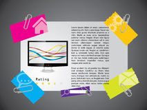 Website template design with product Stock Photos