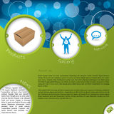 Website template design with product and gallery Stock Images