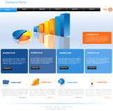 Website template design Royalty Free Stock Photos