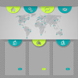 Website template design with world map Royalty Free Stock Photo