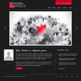 Website template for designers and photographers. Black stylish website template for personal portfolio - perfect for photographers and designers