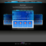 Website template for designers Royalty Free Stock Images