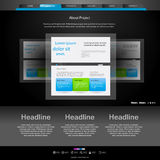 Website template for designers Stock Image