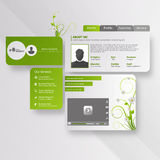 Website template designVector shiny speech bubble with green elementsgreen abstract web design Royalty Free Stock Photo