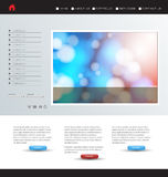 Website template, easy editable Royalty Free Stock Photo