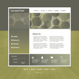 Website template in editable  format Royalty Free Stock Photo