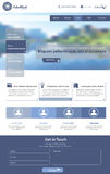 Website Template. Editable graphic elements stock image