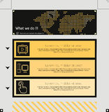 Website Template. Editable graphic elements Royalty Free Stock Photos