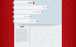 Website template in editable vector format Stock Images