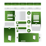 Website template element or ui kit web Royalty Free Stock Photos
