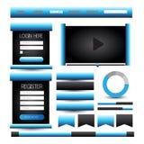Website template element or ui kit web Stock Photos