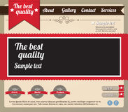 Website template elements Royalty Free Stock Images