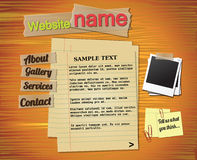 Website template elements, vintage style Stock Images