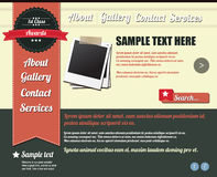 Website template elements, vintage style Stock Image