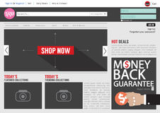 Website Template Flat Design Royalty Free Stock Photography