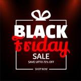 Website template or flyer design with 75% discount offer for Bla. Ck Friday Sale vector illustration