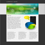 Website template in  format Stock Images