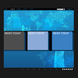 Website template with globe Stock Photography