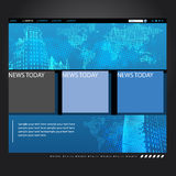Website template with globe Stock Photo
