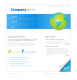 Website template with globe. Stock Photo