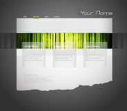 Website template with green curtain. Stock Images