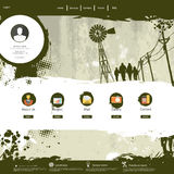 Website template /Grunge colorful professional design/ Royalty Free Stock Image