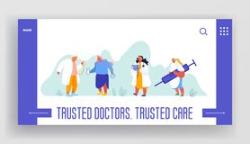 Website Template of Health Insurance, Health Care Plan, Our Medical Team, Landing Page with Doctors, Nurses