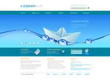 Website template: Innovations Royalty Free Stock Image