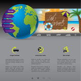 Website template with last minute offer. Nice website template with last minute offer stock illustration