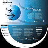 Website Template. Modern Colorful Abstract Web Site Creative Design Template Illustration for Your Business or Blog - Freely Scalable and Editable Vector Format Royalty Free Stock Photo