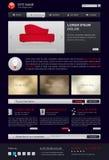 Website template in modern dark design Stock Photo