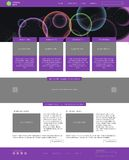 Website template. Modern flat style with banner Stock Images