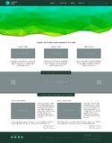 Website template. Modern flat style with green Stock Image