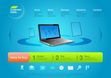 Website template: Notebook Royalty Free Stock Image