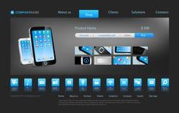 Website template: online shop deluxe Stock Images