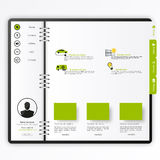 Website template Open notepad with bookmarks Stock Images