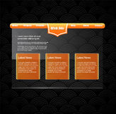 Website template with orange banner. Stock Image