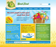 Website template for organic food Stock Image