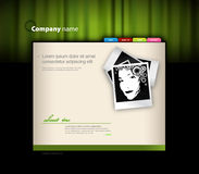 Website template with photo. Royalty Free Stock Photos