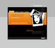 Website template with photo. Royalty Free Stock Photo