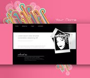 Website template with photo. Stock Photo
