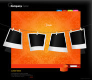 Website template with photos. Vector art Stock Image