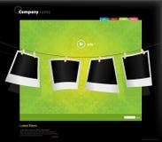 Website template with photos. Vector art Stock Photo