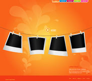 Website template with photos. Vector art Royalty Free Stock Photo